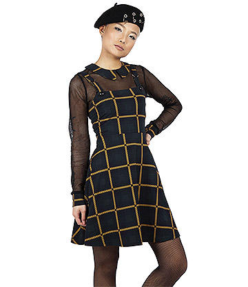 Jawbreaker Head In The Clouds Plaid Dress (Green)