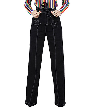 Jawbreaker Glam Rock 70s Trousers (Black)