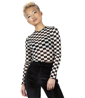 Jawbreaker Make Your Move Mesh Top (Black/White)