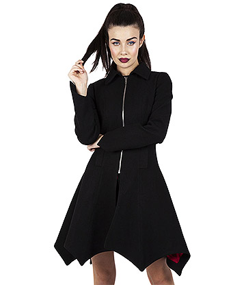 Jawbreaker Bite Me Bat Hem Jacket (Black)