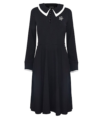 Voodoo Vixen X Acid Doll Dark Sacrement Dress (Black)