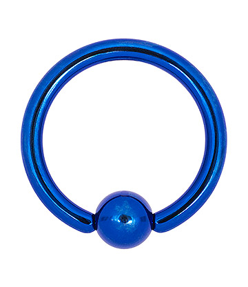Blue Banana Coloured Titanium 1.2mm BCR (Dark Blue)