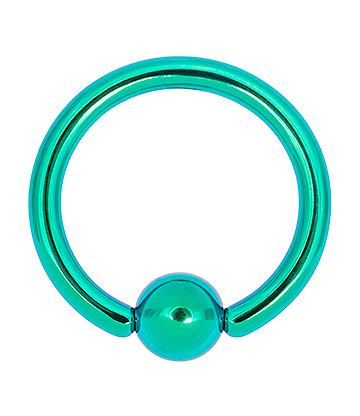Blue Banana Coloured Titanium 1.6mm BCR (Turquoise)