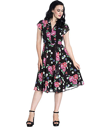 Hell Bunny Bloomsbury 50s Dress (Multicoloured)