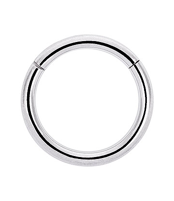 Blue Banana Surgical Steel 1.6mm Hinged Segment Ring (Silver)