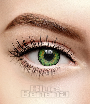 Air Optix Prescription 30 Day Coloured Contact Lenses (Green)