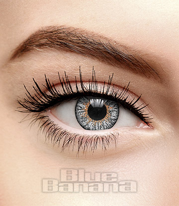 Tri Tone 90 Day Coloured Contact Lenses (Platinum Grey)