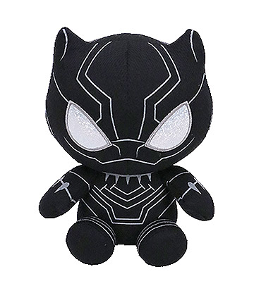 Ty Marvel Black Panther Beanie Baby (Black)