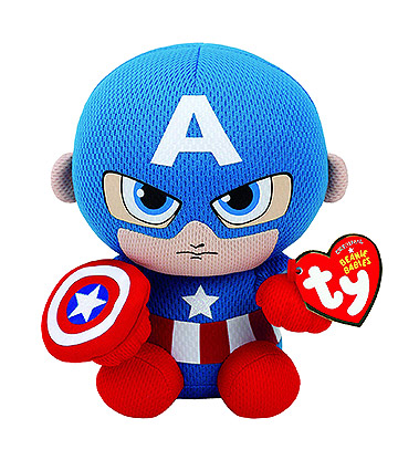 Ty Marvel Captain America Beanie Baby (Blue)