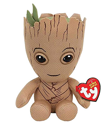 TY Marvel Groot Beanie (Brown)