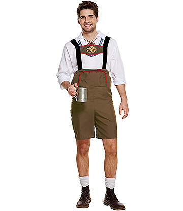 Blue Banana Bavarian Man Festival Costume