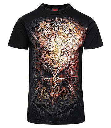 Spiral Direct Viking Shield T Shirt (Black)