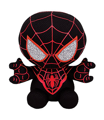 Ty Marvel Miles Morales Spiderman Beanie Baby (Black)