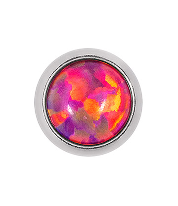 Blue Banana Surgical Steel 4mm Opal Microdermal (Pink/Purple)