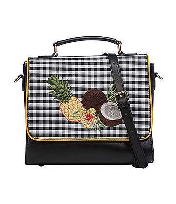 Banned Tropical Embroidered Bag (Black)
