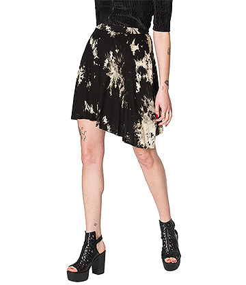 Banned Jersey Tie Dye Skirt (Black)
