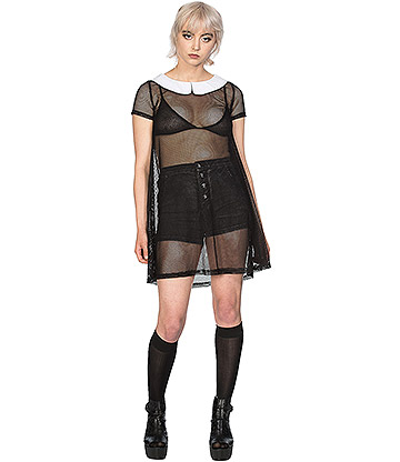 Banned Temptress Collar Dress (Black)