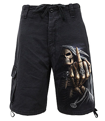 Spiral Direct Bone Finger Cargo Shorts (Black)