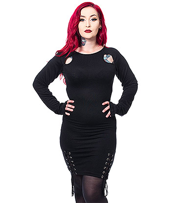 Vixxsin Celyse Gothic Dress (Black)