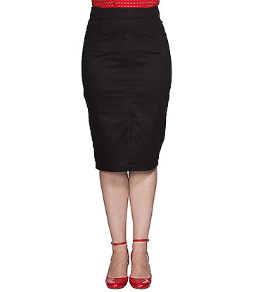 Banned Plain Pencil Skirt (Black)