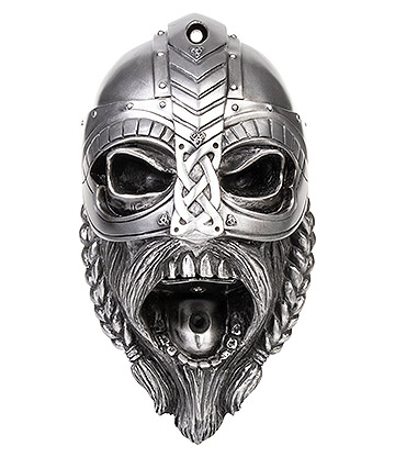 Beer Buddies Viking Helmet Wall Mounted Bottle Opener (Silver)