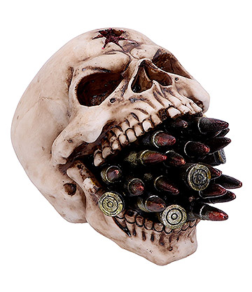 Nemesis Now Bite The Bullet Skull Figurine (11cm)
