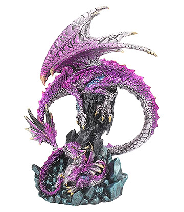 Nemesis Now Parental Guidance Dragon Figurine (Purple)