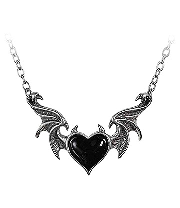 Alchemy Gothic Blacksoul Pendant Necklace (Black)