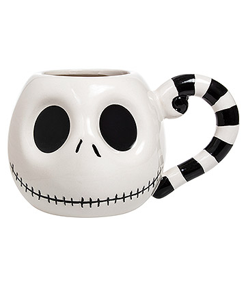 Nightmare Before Christmas Jack Skellington Face Mug (White)