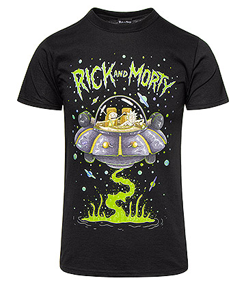 Rick & Morty Space Cruiser T Shirt (Black)