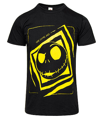 Nightmare Before Christmas Here Comes Jack T Shirt (Black)