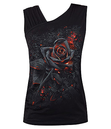 Spiral Direct Burnt Rose Vest Top (Schwarz)