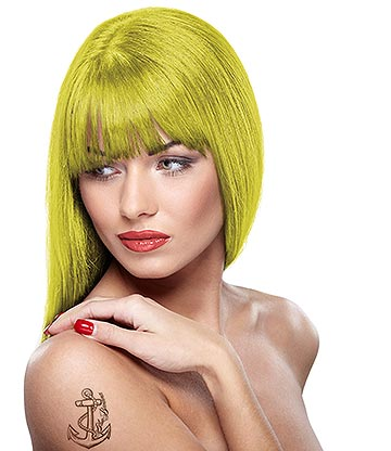 Paintglow Rebellious Colours Semi-Permanent UV Hair Dye 70ml (Neon Yellow)