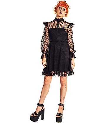Jawbreaker Dont Mesh With My Heart Kleid (Schwarz)