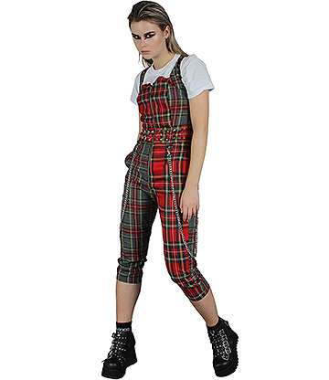 Jawbreaker Pretty Vacant Punk Plaid Jumpsuit (Mehrfarbig)