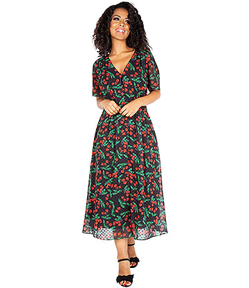 Voodoo Vixen Cheryl Vintage Dress (Black)