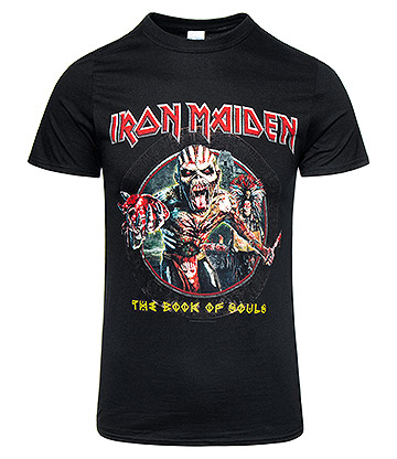 Official Iron Maiden Eddie Circle T Shirt (Black)