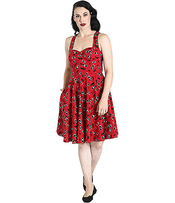 Hell Bunny Alison Dress (Red)