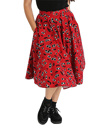 Hell Bunny Alison Skirt (Red)