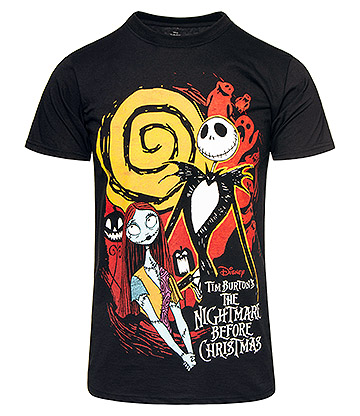 Nightmare Before Christmas Ghosts T Shirt (Black)