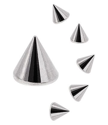 Blue Banana Surgical Steel 1.6 x 4mm Cone Add On Accessory (Silver)
