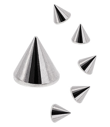 Blue Banana Surgical Steel 6mm Cone Add On Accessory (Silver)