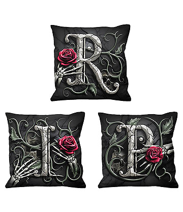 Spiral Direct R.I.P Cushions (Black)