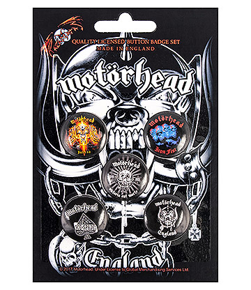 Official Motorhead England Pin Badge Pack (Pack Of 5)