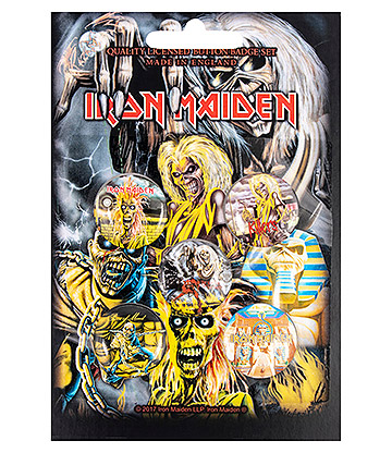 Official Iron Maiden Early Albums Pin Badge Pack (Pack Of 5)
