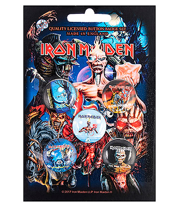 Official Iron Maiden Later Albums Pin Badge Pack (Pack Of 5)