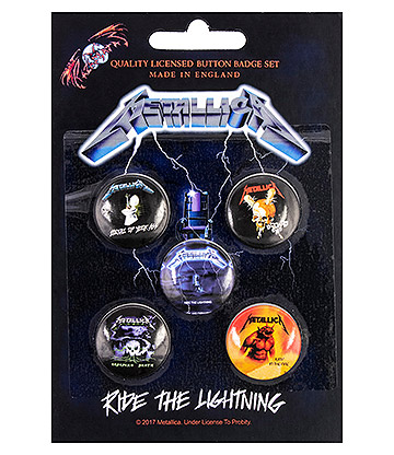 Official Metallica Lightning Pin Badge Pack (Pack Of 5)