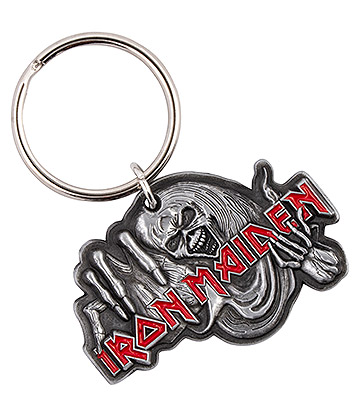 Official Iron Maiden Number Of The Beast Keyring (Silver)