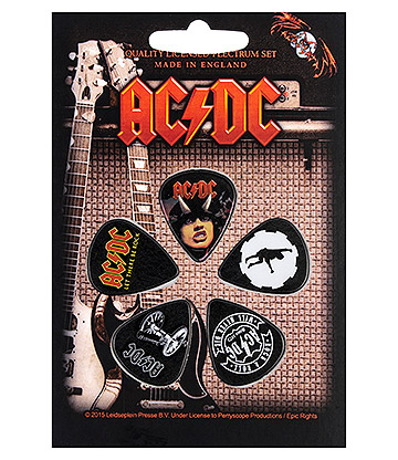 Official AC/DC Highway To Hell Guitar Plectrum Gift Set (Pack Of 5)