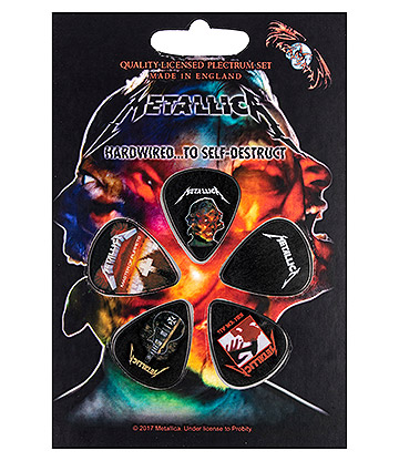 Official Metallica Hardwired Guitar Plectrum Gift Set (Pack Of 5)